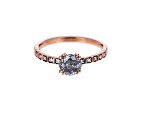 Gray Diamond Tiny Wheat Solitaire - TWISTonline