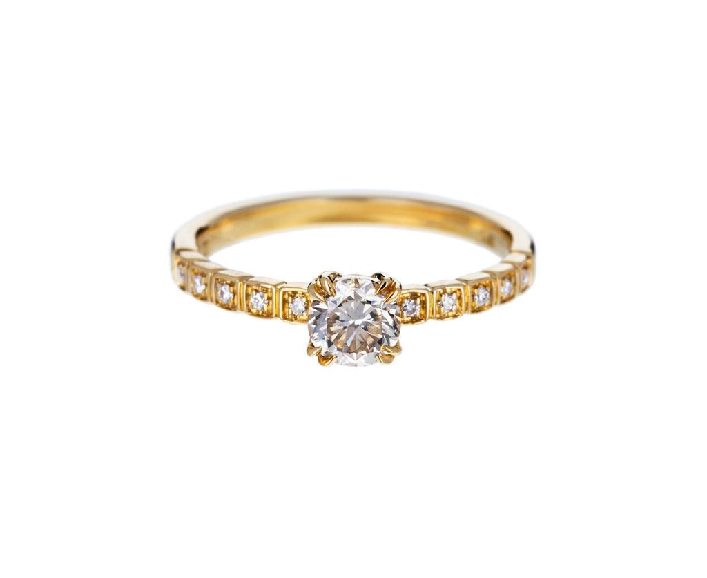Champagne Diamond Tiny Wheat Solitaire zoom 1_anna_sheffield_gold_diamond_tiny_wheat_ring
