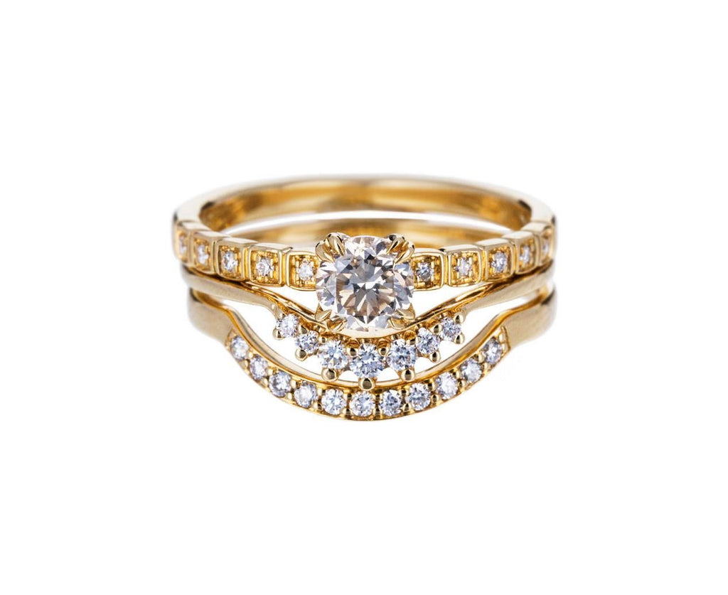 Champagne Diamond Tiny Wheat Solitaire - TWISTonline