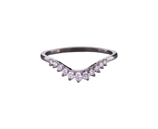 Tiara Curve Band with Diamonds - TWISTonline