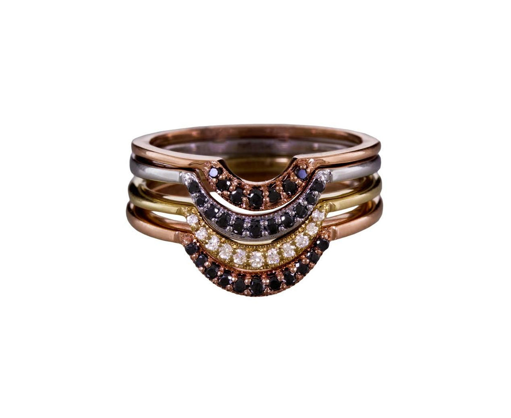 Crescent Band with Black Diamonds - TWISTonline