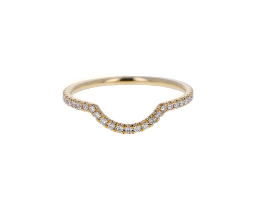Yellow Gold Diamond Eleonore Scallop Band