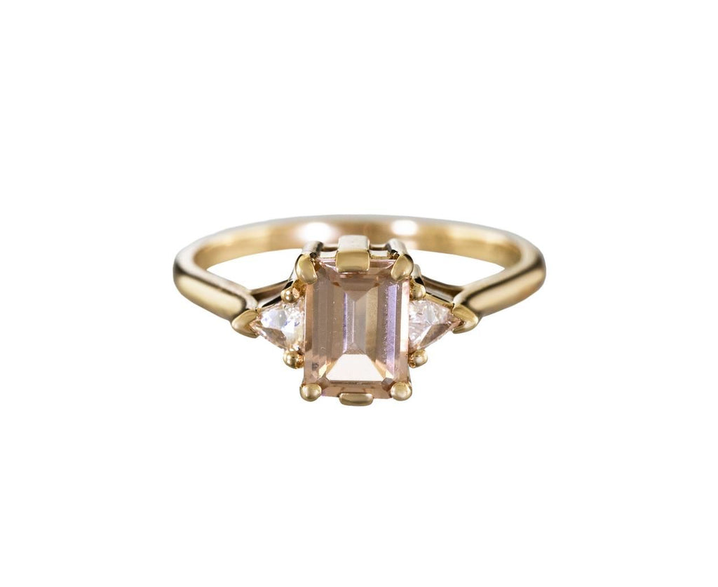 Bea Ring with Morganite and Diamonds - TWISTonline