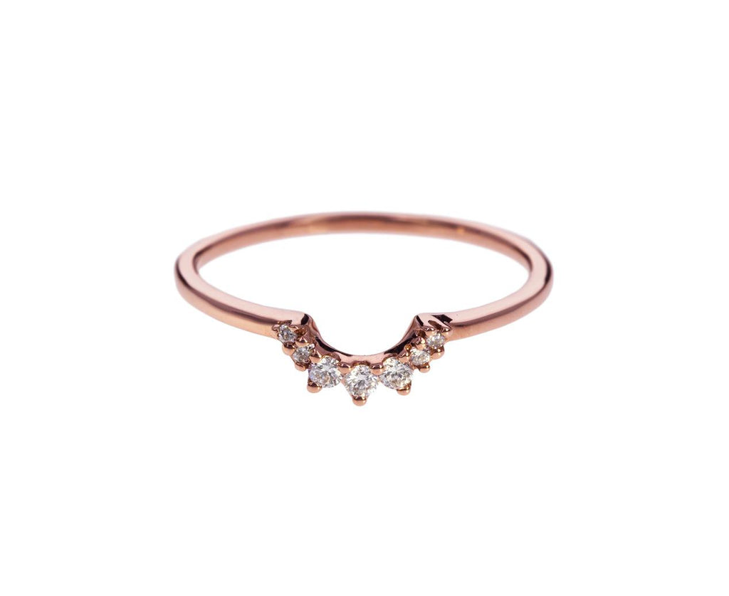 Rose Gold Diamond Tiny Tiara Band zoom 1_anna_sheffield_gold_diamond_tiara_ring