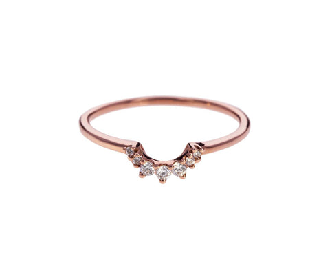 Rose Gold Diamond Tiny Tiara Band - TWISTonline
