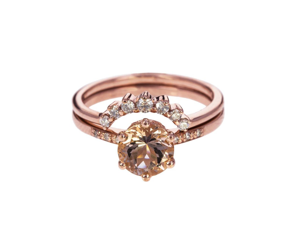 Rose Gold Diamond Grand Tiara Ring - TWISTonline