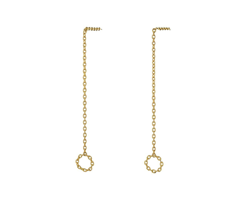 Dangling Circle Chain Earrings - TWISTonline