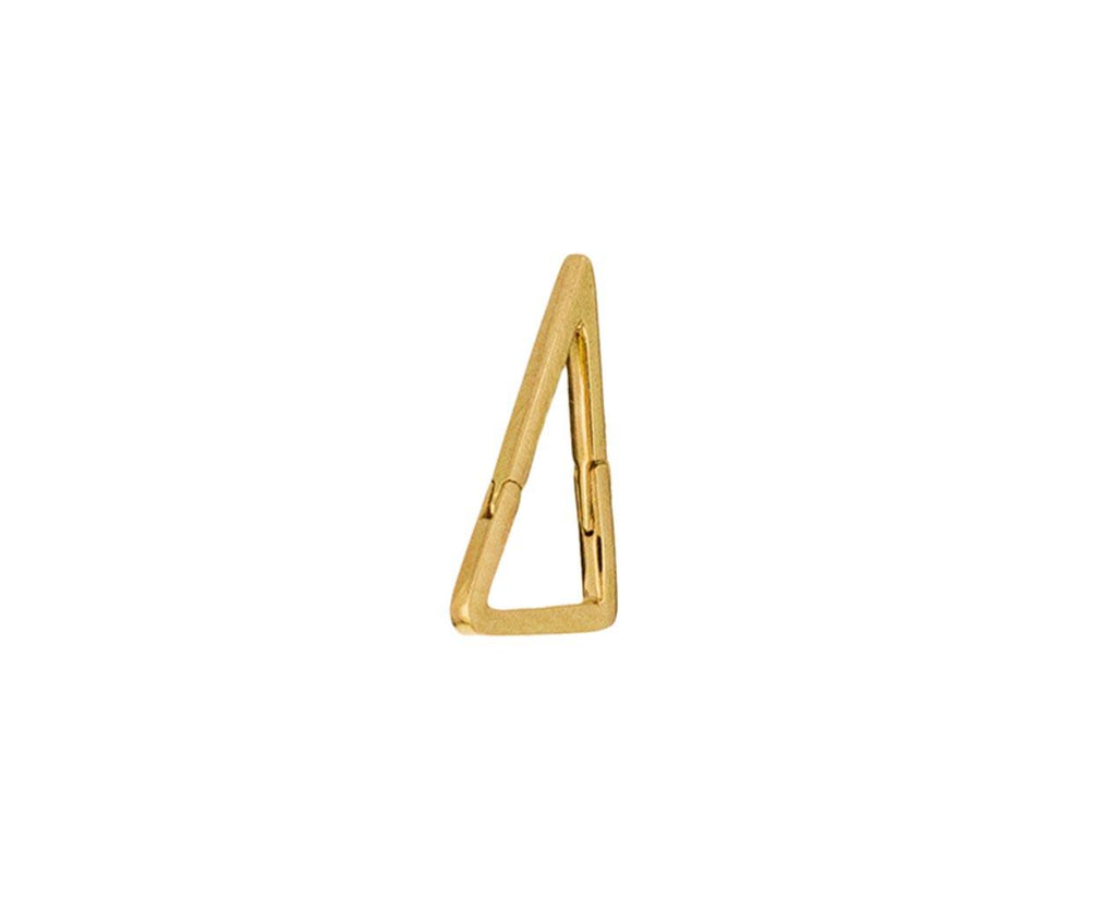 Small Triangle SINGLE Earring zoom 1_shihara_gold_small_triangle_earring