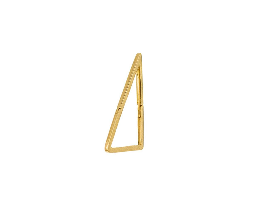 Medium Triangle SINGLE Earring zoom 1_shihara_gold_medium_triangle_earring