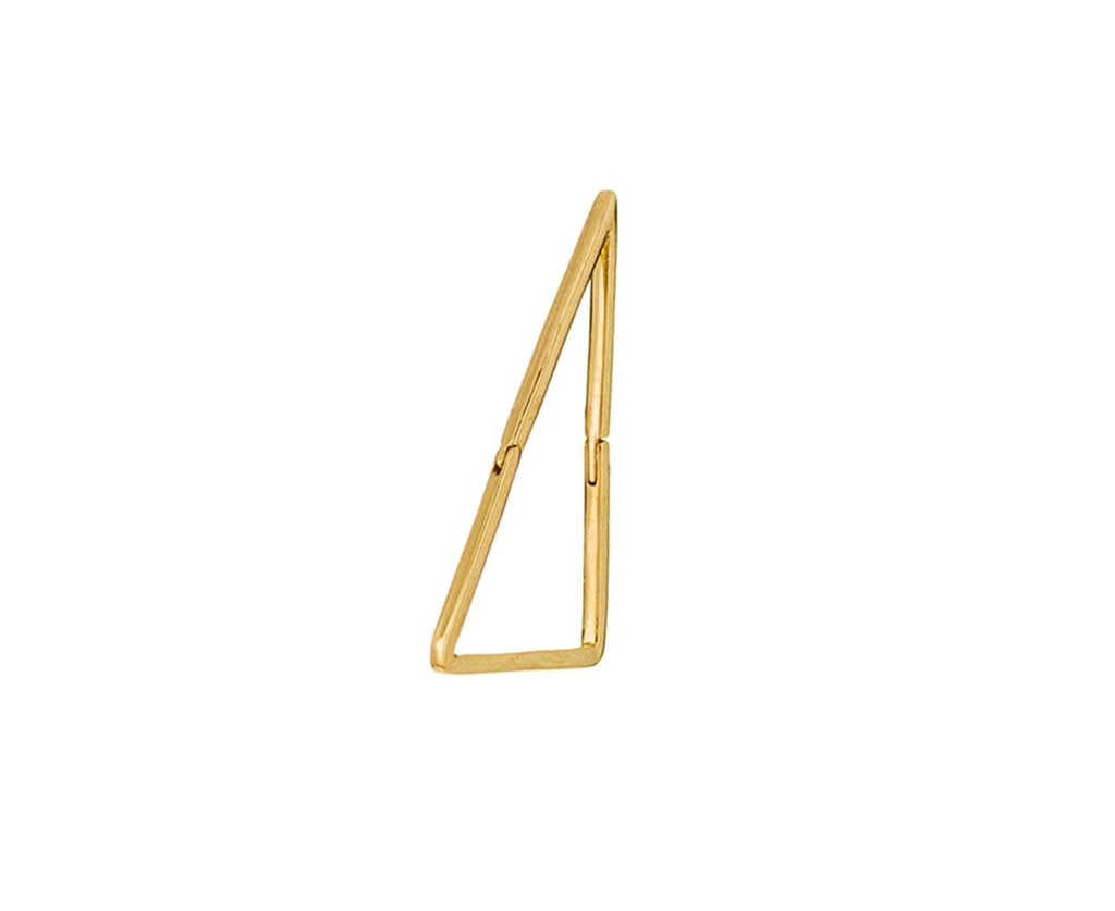 Large Triangle SINGLE Earring zoom 1_shihara_gold_large_triangle_earring