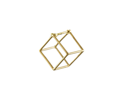 Small Open Cube SINGLE EARRING - TWISTonline