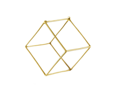 Extra Large Open Cube SINGLE EARRING - TWISTonline