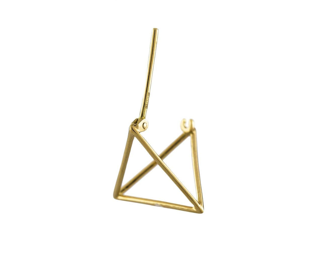 Small Open Pyramid SINGLE EARRING - TWISTonline