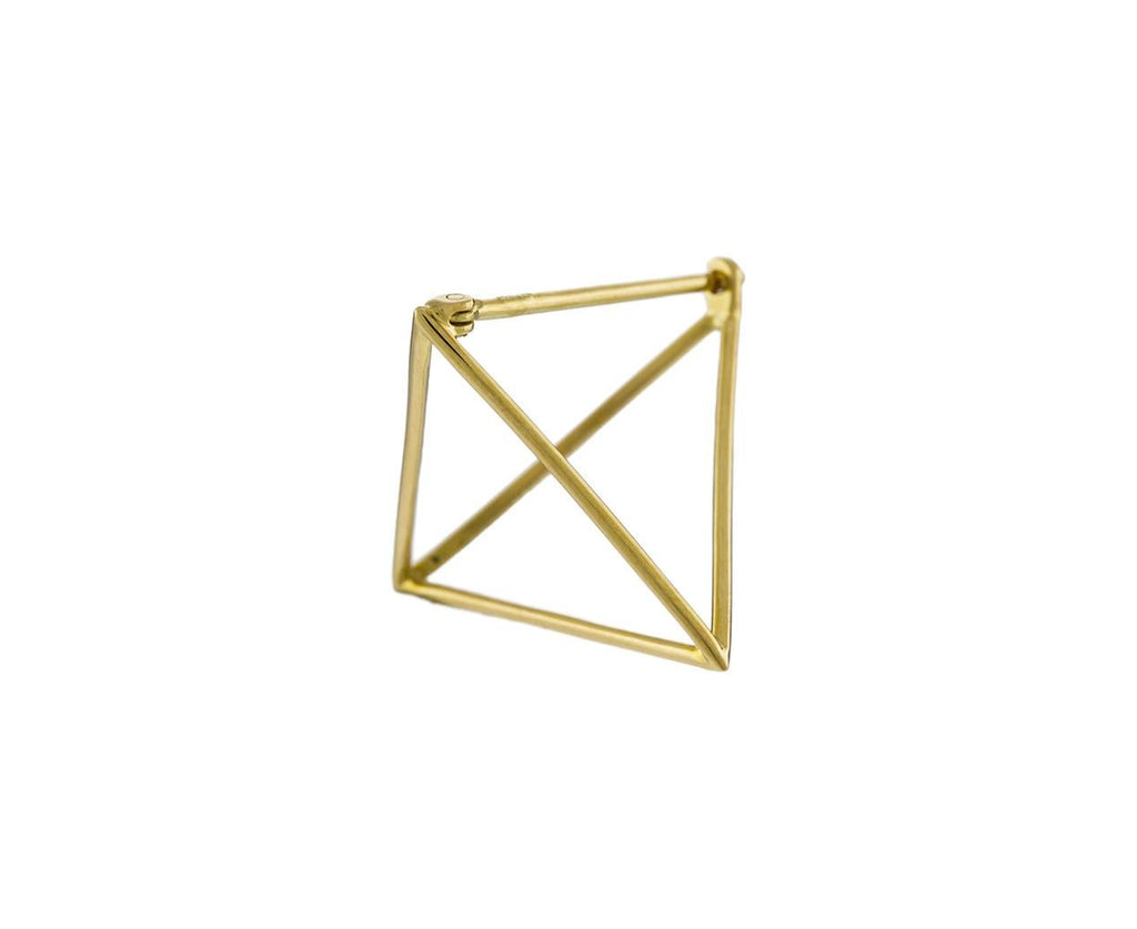 Medium Open Pyramid SINGLE EARRING zoom 1_shihara_gold_medium_open_pyramid_earrings