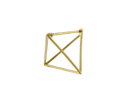 Medium Open Pyramid SINGLE EARRING - TWISTonline