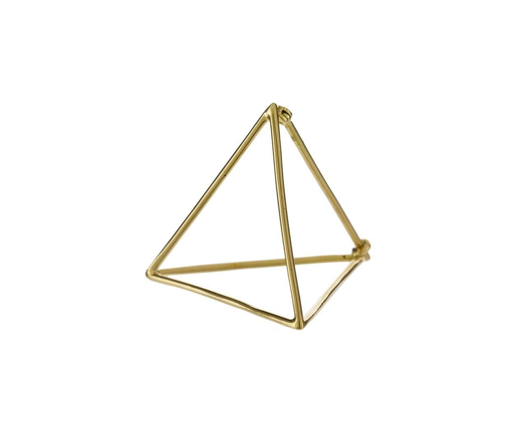 Large Open Pyramid SINGLE EARRING zoom 1_shihara_gold_extra_large_earring