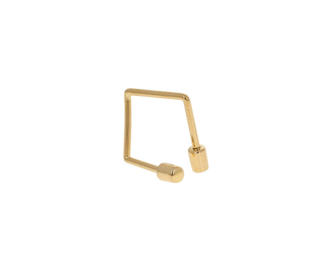 Gold Twist SINGLE Earring