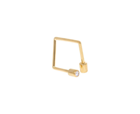 Diamond Twist Square SINGLE Earring