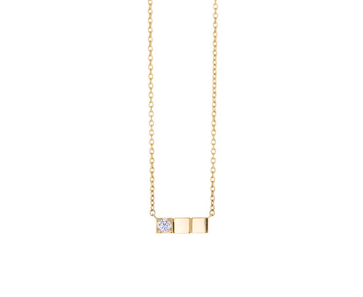 Diamond Block Necklace