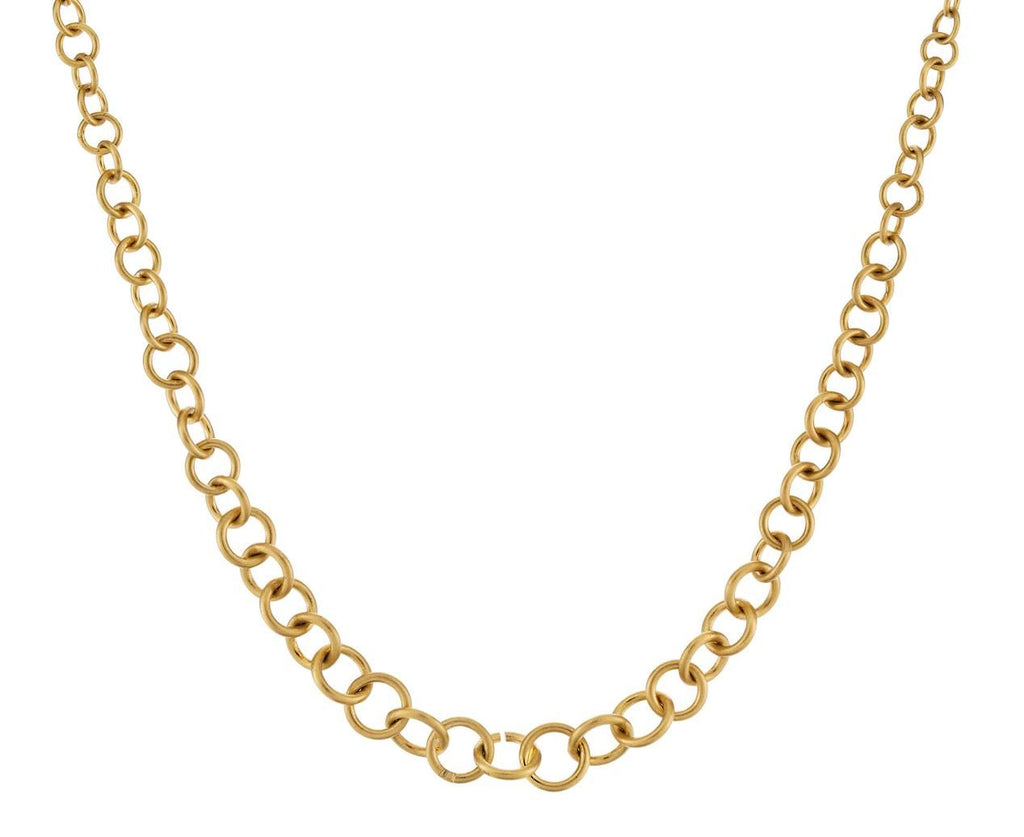 Tapered Gold Link Chain Necklace - TWISTonline