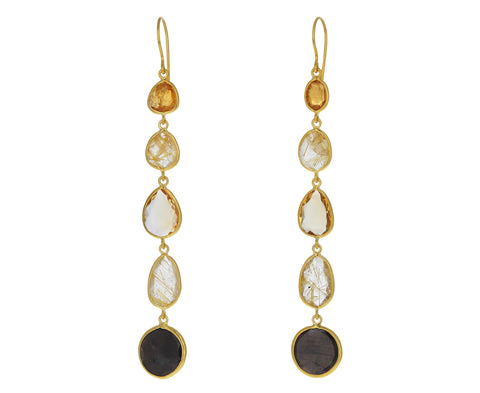 Mixed Gem Autumn Harvest Drop Earrings