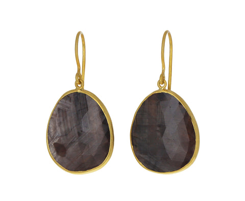 Honey Sapphire Autumn Harvest Earrings
