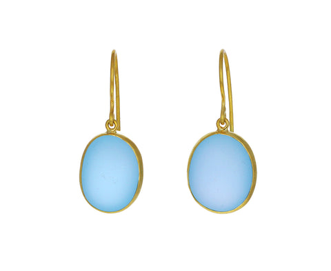 Blue Topaz Glacier Drop Earrings