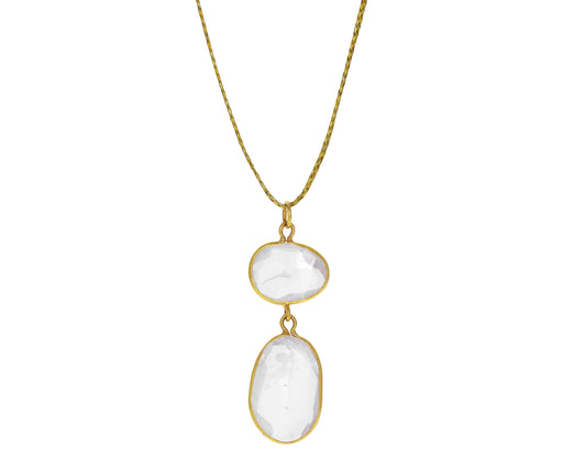 Rainbow Moonstone Alinn Pendant Necklace