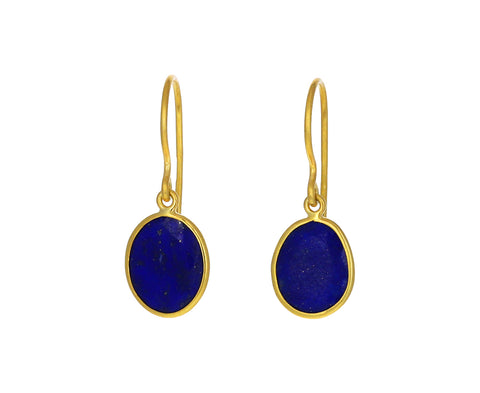 Lapis Single Drop Earrings