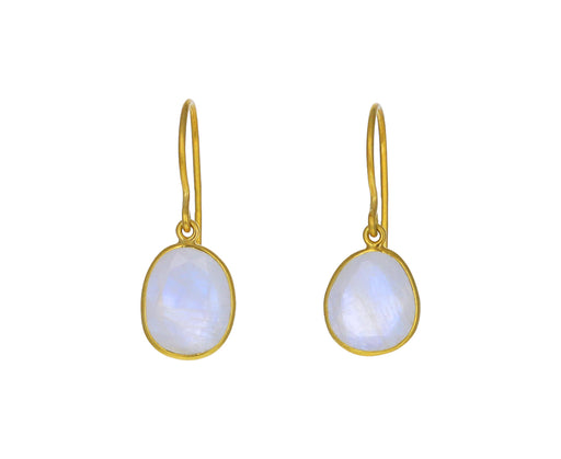Rainbow Moonstone Single Drop Earrings