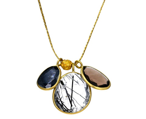Triple Colette and Gold Peppercorn Necklace - TWISTonline