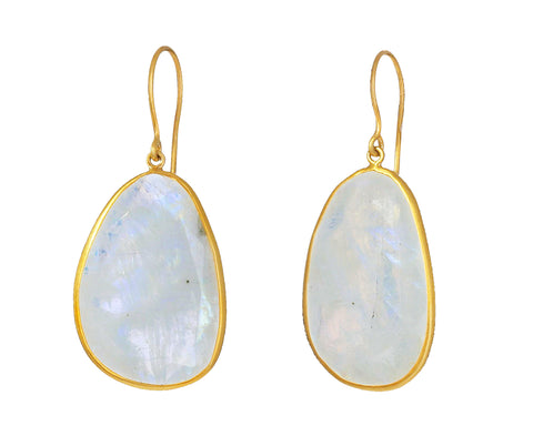 First Frost Large Moonstone Earrings