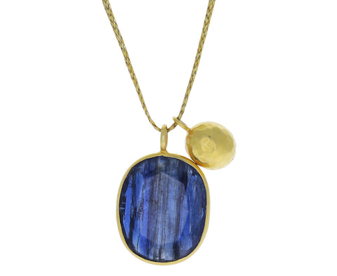 Colette Kyanite and Gold Drop Pendant Necklace