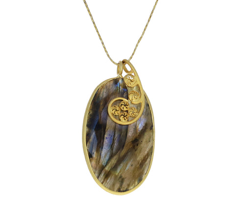 Large Labradorite Colette Pendant Necklace