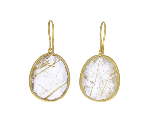 Large Rutilated Quartz Earrings