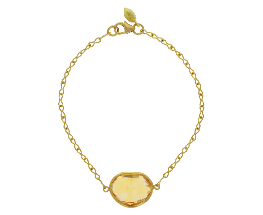 Mughal Citrine Single Stone Bracelet