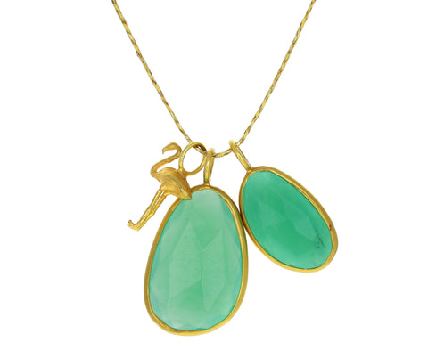 Chrysoprase Flourishing Greens Double Colette Necklace