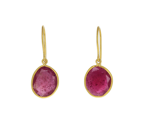 Ruby Rosy Dawn Drop Earrings