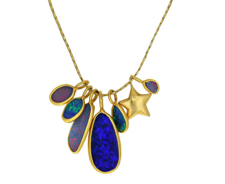 Caribbean Daydream Opal Colette Cluster Necklace