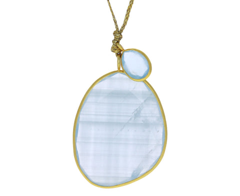 Large Double Aquamarine Colette Pendant Necklace