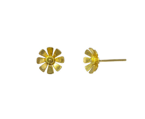 Sunflower Post Earrings zoom 1_pippa_small_gold_sunflower_earrings