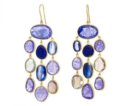 Pacific Blues Mixed Stone Jellyfish Earrings - TWISTonline