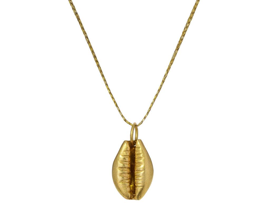 Gold Cowry Shell Pendant