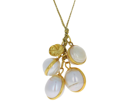 Pearl Nyein Cluster Pendant Necklace