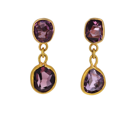 Purple Spinel Nandar Earrings