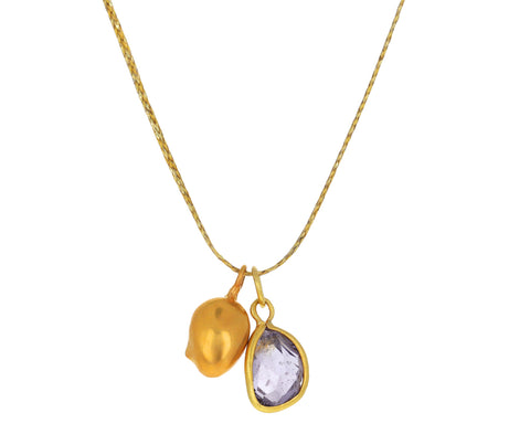 Purple Spinel and Golden Mango Nandar Colette Necklace