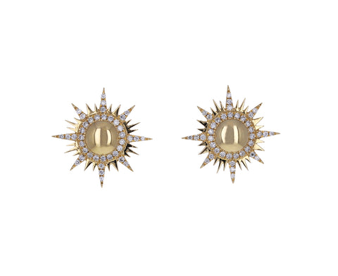 Diamond Il Sole Stud Earrings