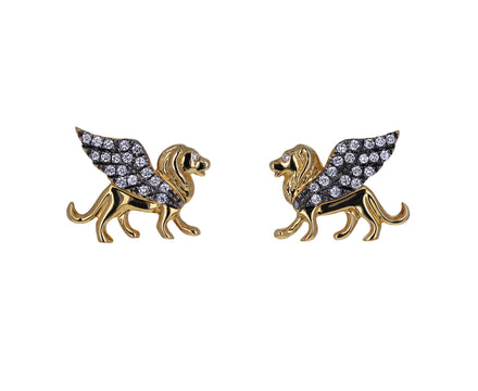 Diamond Il Leone Stud Earrings