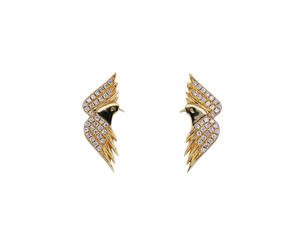 Diamond L'aquila Stud Earrings