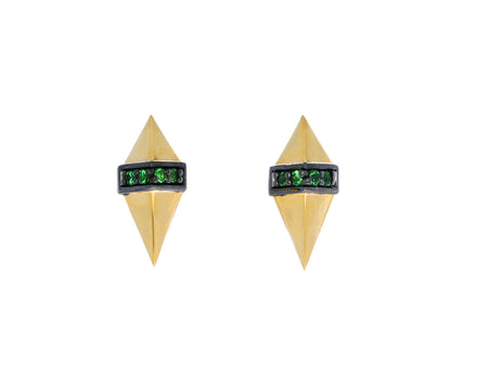 Gold and Tsavorite Garnet Pietra Stud Earrings